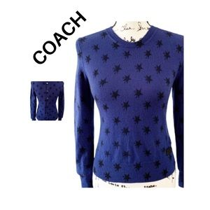 Coach Sweater Size S Button Back